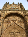 Cathedral salamanca facade in spain Stock Images
