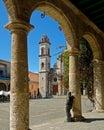 Cathedral San Cristobal Royalty Free Stock Photo