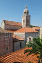Cathedral of san marco at korcula on croatia Stock Image