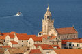 Cathedral of san marco at korcula on croatia Stock Photo