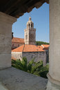 Cathedral of san marco at korcula on croatia Royalty Free Stock Images