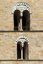 Cathedral of san zeno pistoia italy detail the windows the bell tower st tuscany Royalty Free Stock Photos