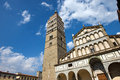 Cathedral of san zeno pistoia italy the st x century in piazza duomo square tuscany Stock Photo