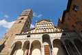 Cathedral of san zeno pistoia italy the st x century in piazza duomo square tuscany Royalty Free Stock Photos