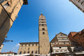 Cathedral of san zeno pistoia italy the st x century and town hall in piazza duomo square tuscany Royalty Free Stock Photography