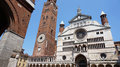 Cathedral of Santa Maria Assunta with the bell tower Torrazzo in Cremona, Italy Royalty Free Stock Photo