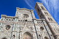 View of cathedral of Santa Maria del Fiore, Florence - Italy Royalty Free Stock Photo