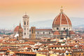 Cathedral Santa Maria Del Fiore at sunset in Florence, Italy Royalty Free Stock Photo