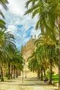 The cathedral of santa maria of palma de mallorca la seu spain Stock Image
