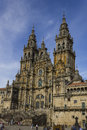 Cathedral of santiago de compostela – july main facade the on july in galicia spain Royalty Free Stock Photography