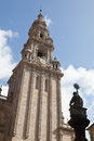 Cathedral of Santiago de Compostela in Spain Stock Photos
