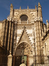Cathedral of Sevilla in Andalucia Stock Image