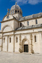 Cathedral sibenik the of st james in built entirely of stone and marble croatia Stock Images