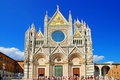 Cathedral in Siena Stock Photo