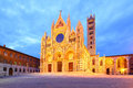 Cathedral of siena the duomo di at night italy Stock Photo