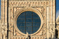 Cathedral of siena the painted fronton the Royalty Free Stock Photo