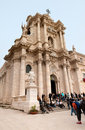 Cathedral of Siracusa Stock Images