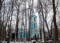 Cathedral on Smolenskoe cemetery in SaintPetersburg Royalty Free Stock Photo