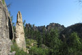 The cathedral spires in black hills of south dakota Stock Photography