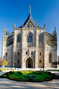 Cathedral of st barbara in kutna hora in the czech republic Royalty Free Stock Photo