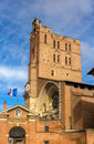 Cathedral st etienne of toulouse france Royalty Free Stock Image
