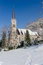 Cathedral of St. Florin in Vaduz Liechtenstein Royalty Free Stock Photo