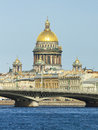Cathedral of st isaac saint petersburg orthodox the biggest russia Royalty Free Stock Photos