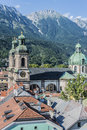 Cathedral of st james in innsbruck austria dom zu jakob an eighteenth century baroque the roman catholic diocese Royalty Free Stock Photos