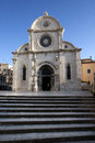 Cathedral st james sv jakov sibenik has been unesco world heritage list Stock Photos