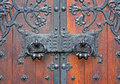 Cathedral of st john the divine gate to Stock Image