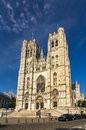 Cathedral of St. Michael and St. Gudula in Brussels Royalty Free Stock Photo