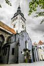 The cathedral of st nicholas church in the old town of tallinn october s cloudy weather estonia Stock Photos