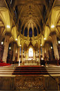 The cathedral of st patrick interior in new york Royalty Free Stock Images