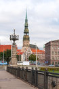 Cathedral of st peter old riga latvia Stock Photo