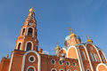 Cathedral of st vladimir fragment novocheboksarsk chuvashia orthodox church in russia the city Royalty Free Stock Photography