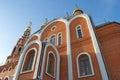 Cathedral of st vladimir fragment novocheboksarsk chuvashia orthodox church in russia the city Royalty Free Stock Photos
