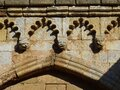 Detail of cornice. Cathedral of Tarragona. Spain. Royalty Free Stock Photo