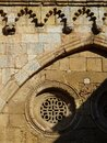 Detail of wall. Cathedral of Tarragona. Spain. Royalty Free Stock Photo