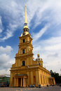 Cathedral temple in petropavlovskaya fortress Royalty Free Stock Photo
