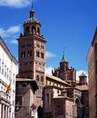 Cathedral teruel spain bell and clock tower in the town centre province aragon western europe Royalty Free Stock Photos