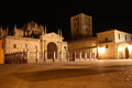 Cathedral to zamora a view of the in spain at night Royalty Free Stock Images