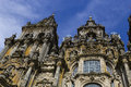 Cathedral tower of the facade of the of santiago de compostela in galicia spain Royalty Free Stock Image