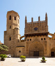 Cathedral of transfiguration of the lord huesca in sunny day aragon Royalty Free Stock Photos