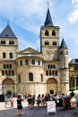 Cathedral of trier germany june saint peter in on june it is the oldest in and was build in years Stock Image