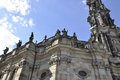 Cathedral Trinitatis Top from Dresden in Germany Royalty Free Stock Photo