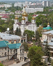 Cathedral of the urban buildings. Pyatigorsk. Royalty Free Stock Photography