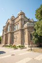 The cathedral in varna in bulgaria training of cadets sailing school Royalty Free Stock Image