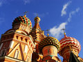 Cathedral of vasily the blessed moscow russia close up red square Royalty Free Stock Photos