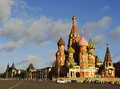 Cathedral of vasily the blessed moscow russia red square Royalty Free Stock Photo