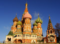 Cathedral of vasily the blessed moscow russia red square Stock Photo